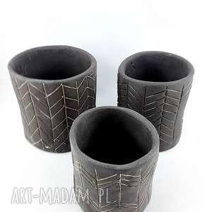 ceramika komplet doniczek ceramicznych