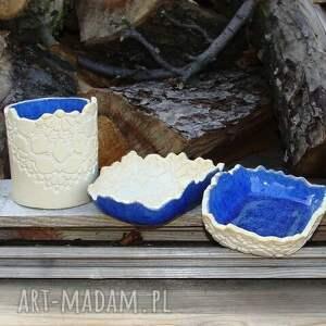 ceramika mydelniczka komplet łazienkowy