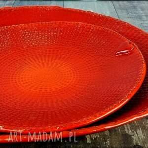 gustowne ceramika misa komplet 2 pater ceramicznych w mocnej