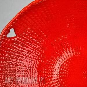 czerwone ceramika patera komplet pater ceramicznych heart