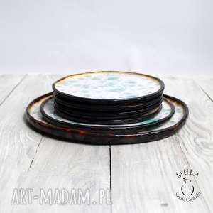 ceramika ciasta komplet talerzy, deserowy.
