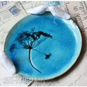 niekonwencjonalne ceramika komplet turkusowych talerzyków
