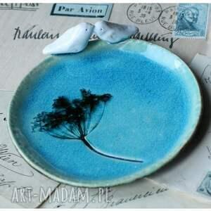ceramika turkusowe komplet turkusowych talerzyków