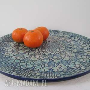 ceramika talerz koronkowa patera ceramiczna