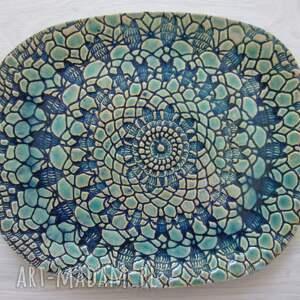 Ceramika Ana koronkowy owalny talerz - dekoracyjny