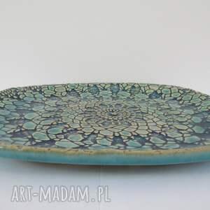 ceramika talerz ceramiczny koronkowy owalny