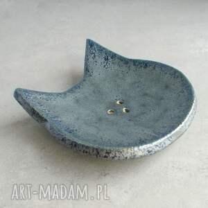ceramika łazienka kot - mydelniczka