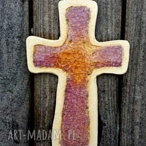 urokliwe ceramika krzyż krzyżyk na ścianę i szkło