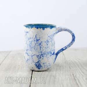 niebieskie ceramika do-kawy kubek bańki