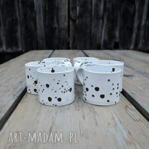 niekonwencjonalne ceramika kubek ceramiczny niski - zestaw