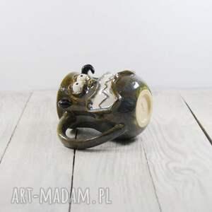 pomysł na prezentKubek ceramiczny Potworek - mikołaj dla dziecka