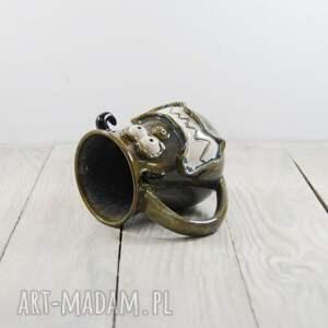 pomysł na prezentKubek ceramiczny Potworek - mikołaj dla mamy