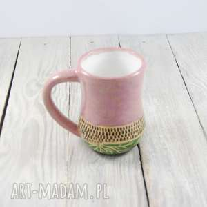 białe ceramika do-herbaty kubek ceramiczny sgraffito