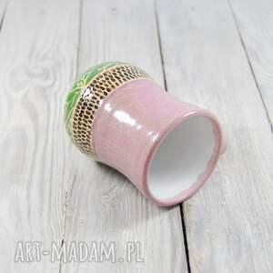 ręczne wykonanie ceramika do-kawy kubek ceramiczny sgraffito
