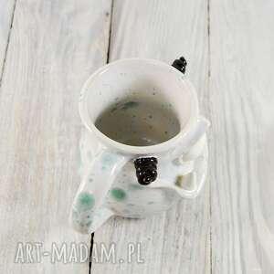 białe ceramika kawa kubek ceramiczny stworek, potworek