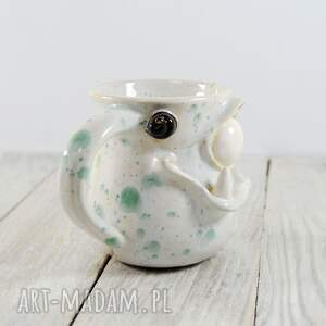 intrygujące ceramika kawa kubek ceramiczny stworek, potworek