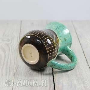 ręcznie wykonane ceramika kawa kubek ceramiczny sgraffito