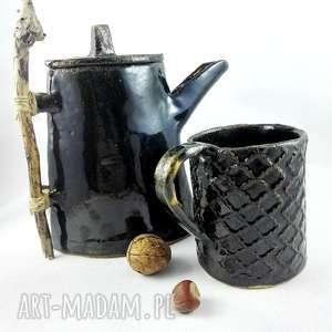prezent ceramika kubek ceramiczny w kolorze oliwkowej zieleni