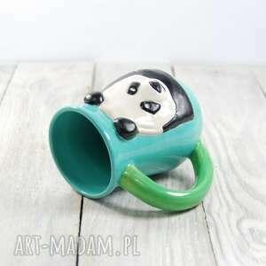 zielone ceramika prezent kubek ceramiczny panda