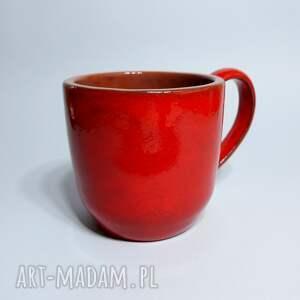 czerwone ceramika kubek czerwony