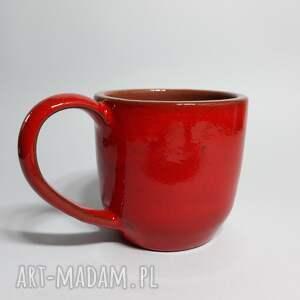modne ceramika kubek czerwony