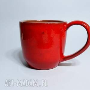 glina ceramika kubek czerwony