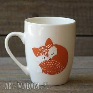 eleganckie ceramika kubek z-lisem lis z imieniem - ręcznie