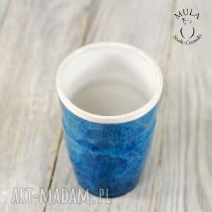 ciekawe ceramika ceramiczny kubek niebieski