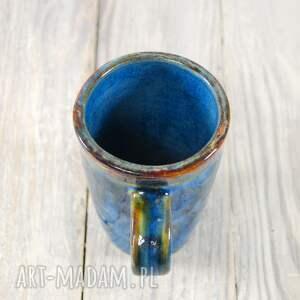 niebieskie ceramika do-kawy kubek niebiesko-brązowy