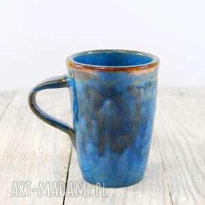 atrakcyjne ceramika do-kawy kubek niebiesko-brązowy