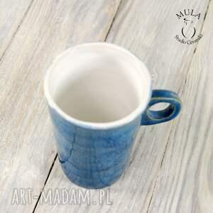 ceramika kubek niebiesko -biały