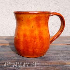 wyraziste ceramika kubek pomarańczowy