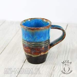 niebieskie ceramika rower kubek