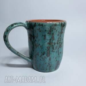 turkusowe ceramika kubek turkusowy