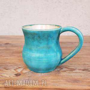 trendy ceramika kubek turkusowy
