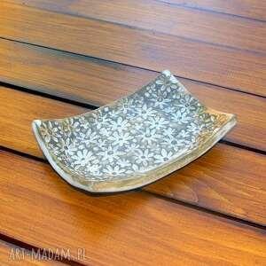 unikalne ceramika łazienka kwiecista mydelniczka