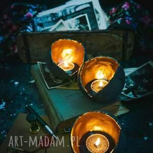 srebrne ceramika lampion ceramiczny ozdobny