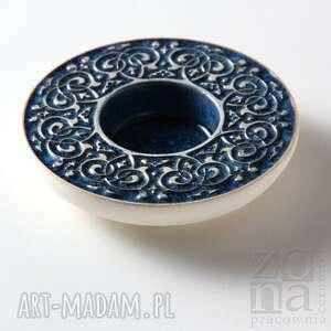 oryginalne ceramika lampion lampiony barokowe szaroniebieskie