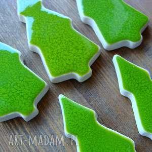prezenty świąteczne las iglasty - magnesy ceramiczne