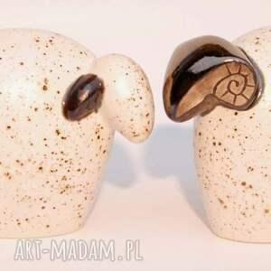 białe ceramika baran łowca