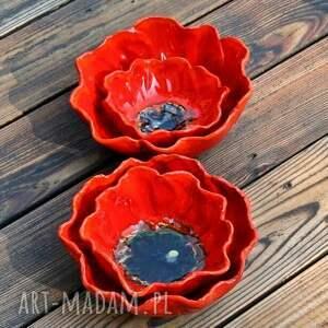 frapujące ceramika mak maki zestaw 2 ceramicznych mis