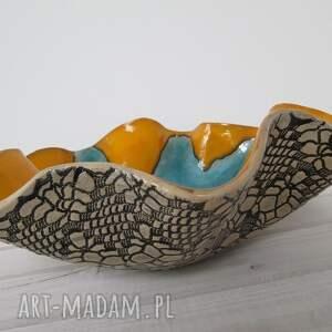 miska ceramika pomarańczowe maxi misa wywijana