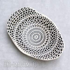 czarno białe ceramika micha do salonu