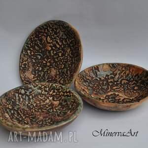 turkusowe ceramika miska mini miseczki zestaw