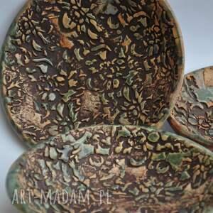 ceramika patera mini miseczki zestaw