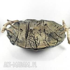 ceramika prezent misa ceramiczna z drewnianymi
