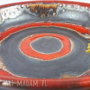 atrakcyjne ceramika bolesławiec misa czerwone kręgi