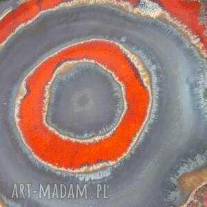 czerwone ceramika bolesławiec misa kręgi