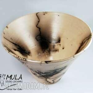 ceramika ceramika-artystyczna misa horse hair raku