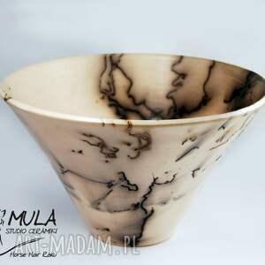 hand-made ceramika raku misa horse hair